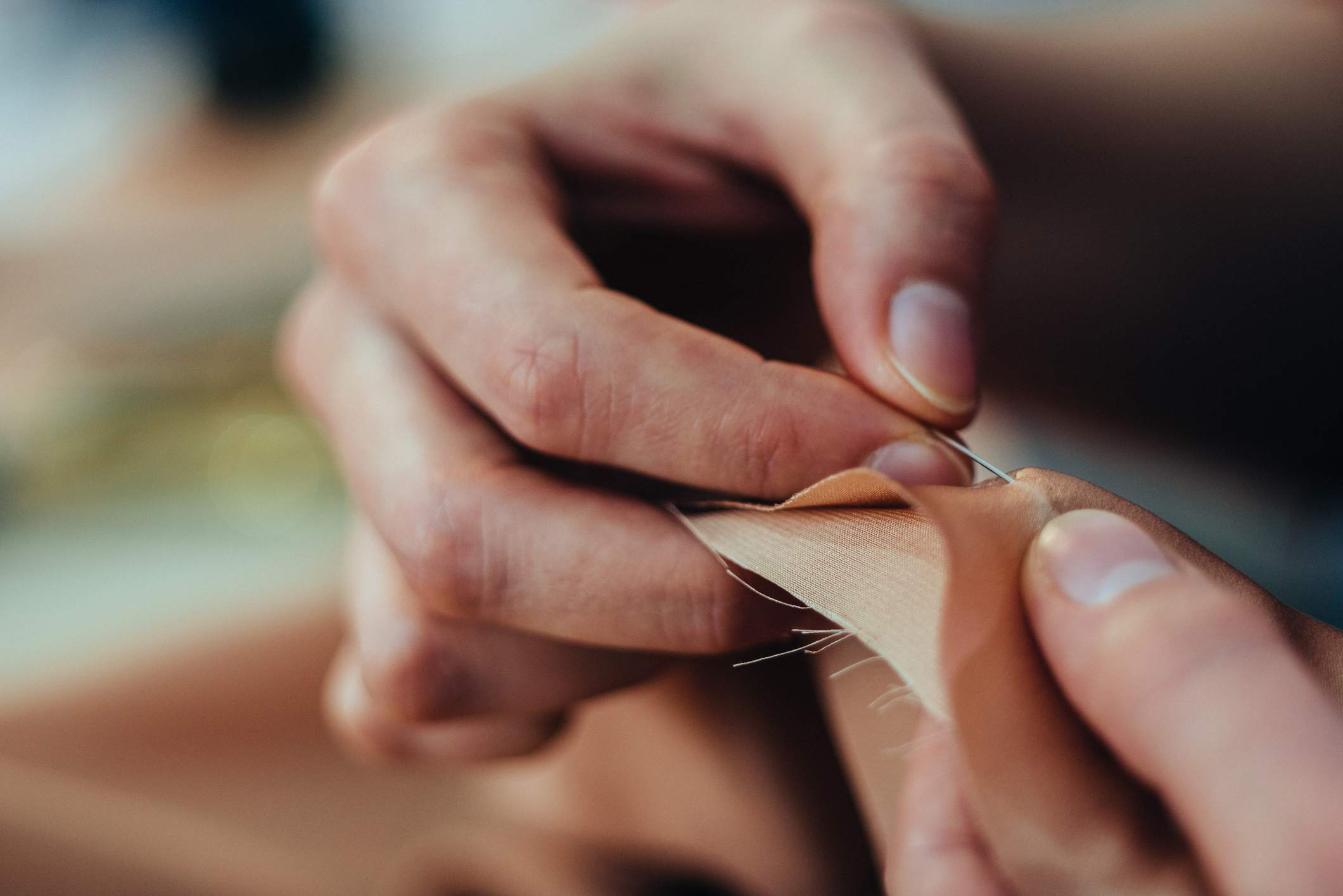 Dressmaker stitching