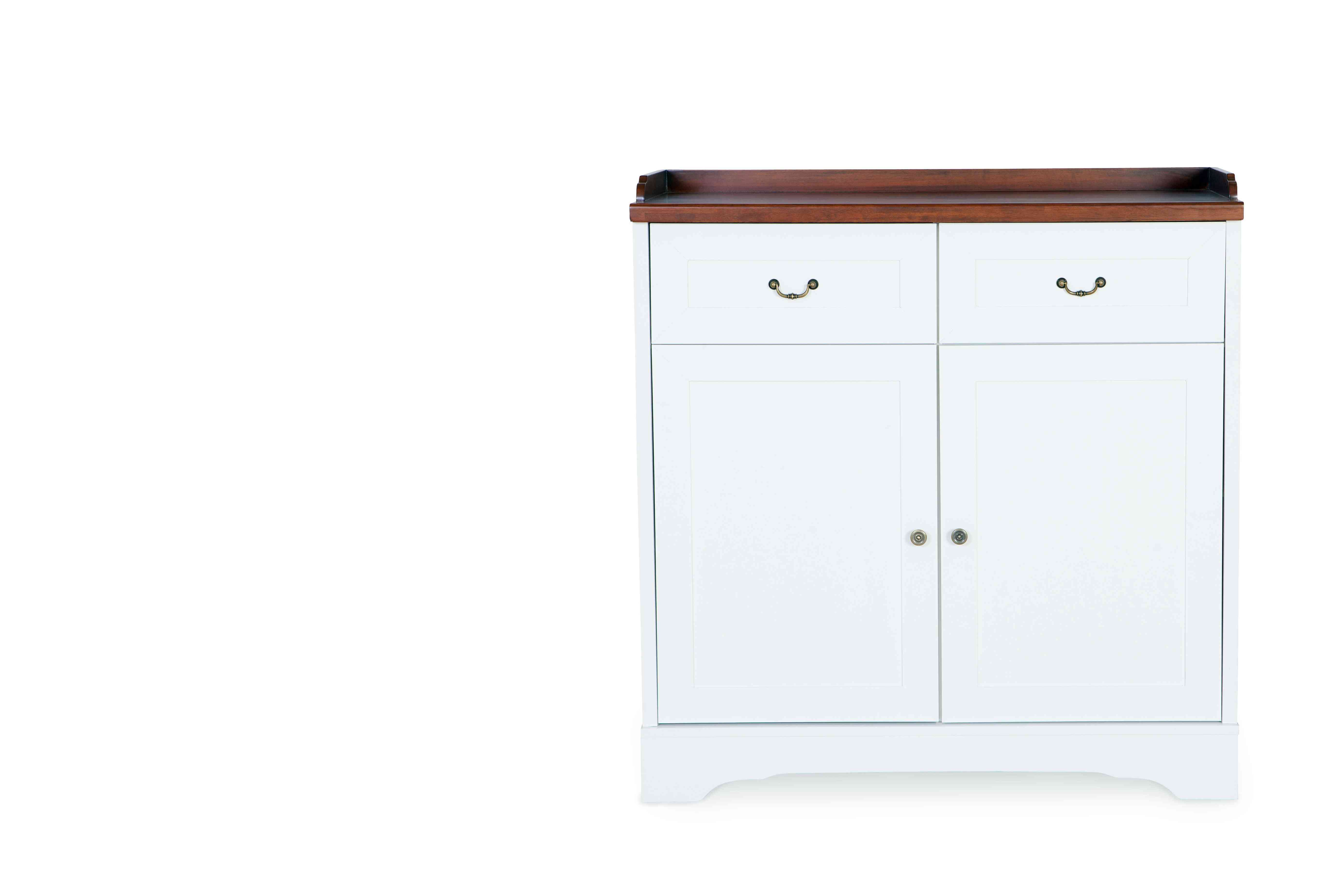 A basic white cabinet