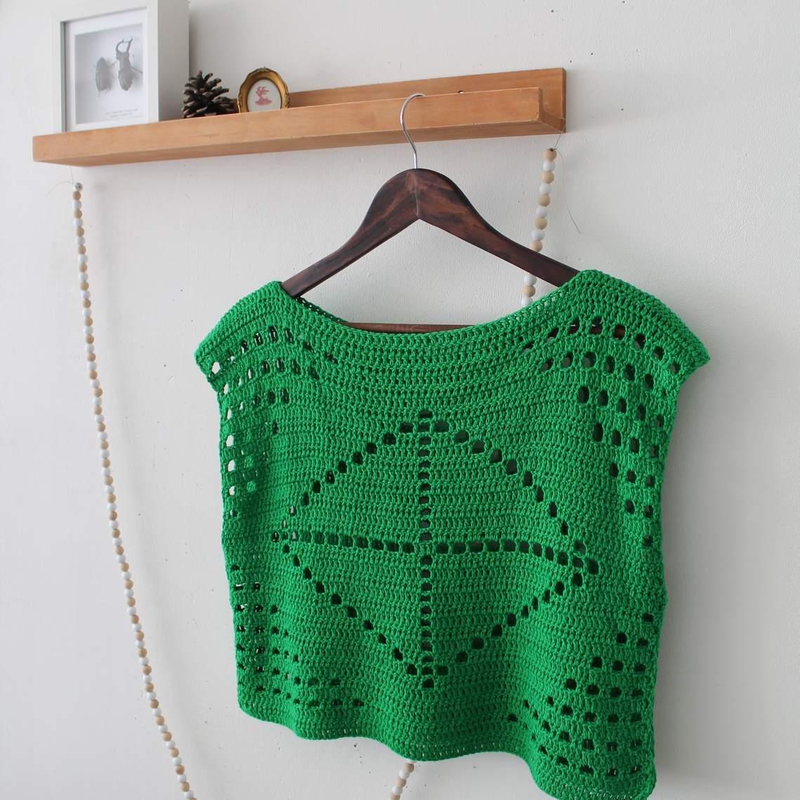 20 Inspiring Free Filet Crochet Patterns With Diagram Shirt Pattern