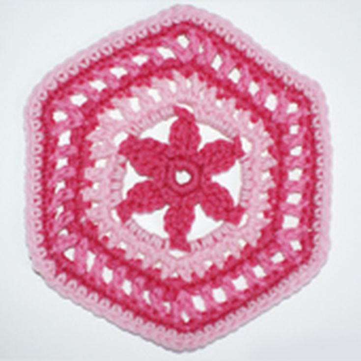 Floral Granny Hexagon Crochet