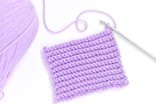 Back Loop Only Crochet Swatch