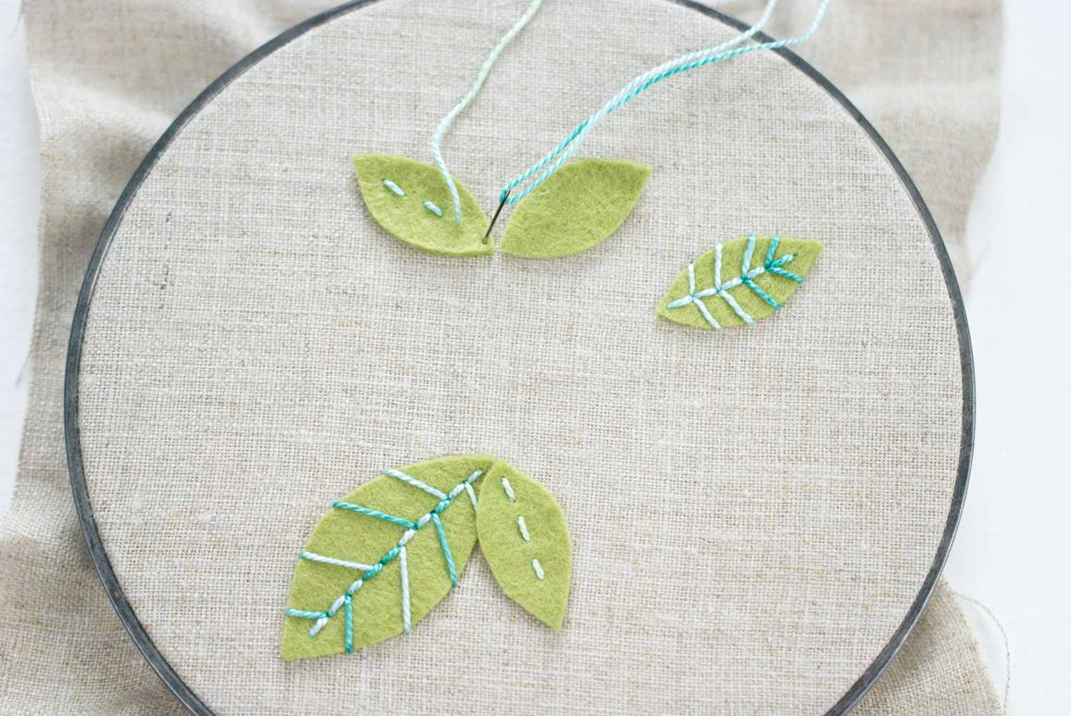 How To Create Embroidered Felt Flowers