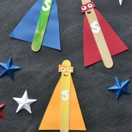 popsicle stick super hero craft