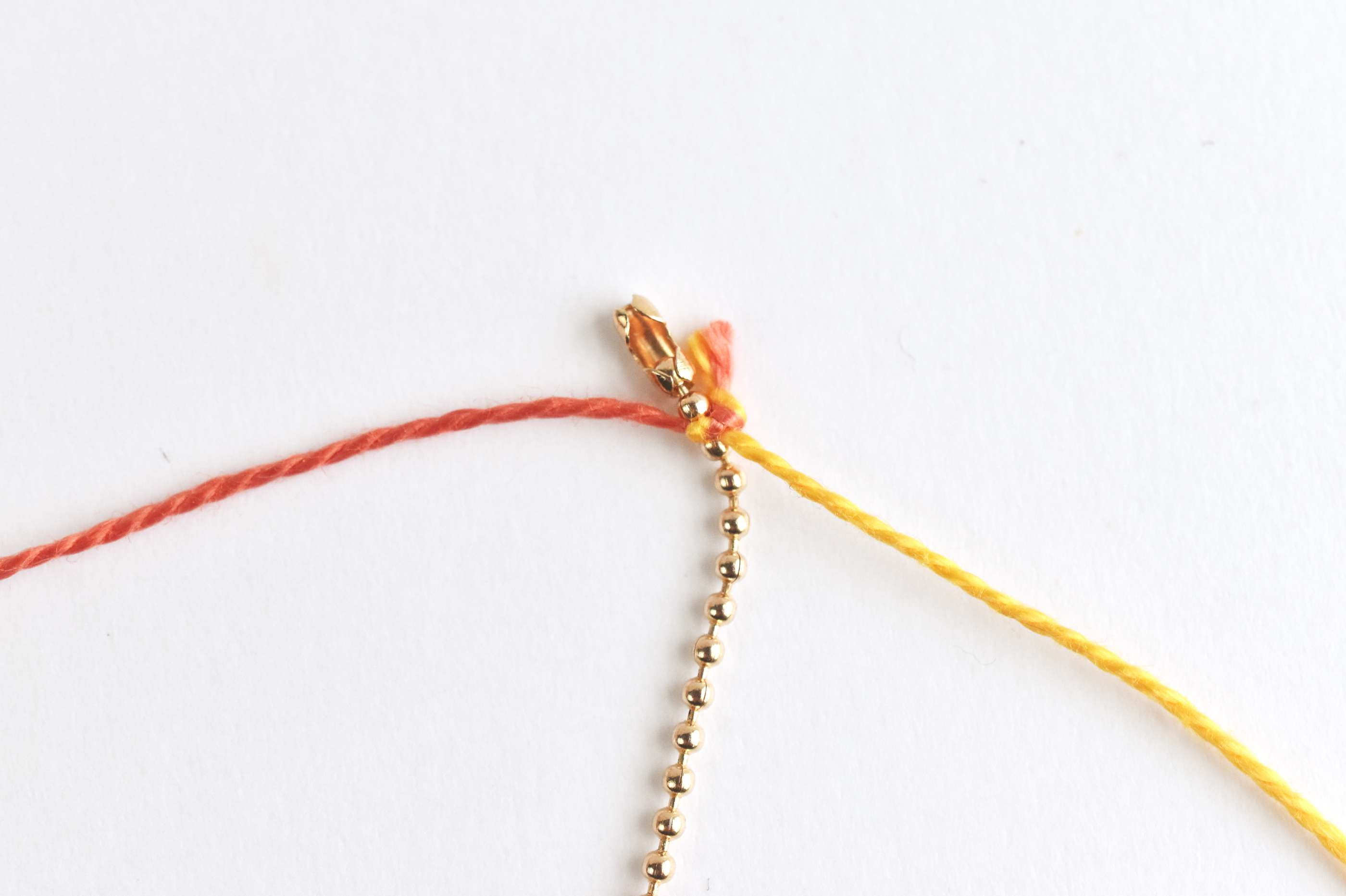 Tie the Thread to the Chain