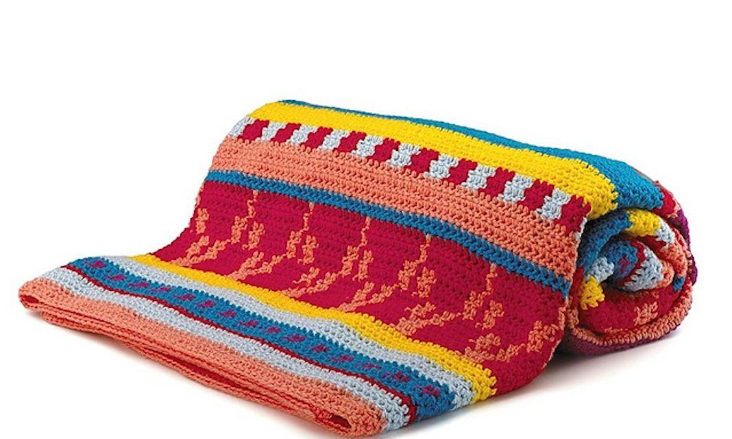 Tapestry Crochet Blanket Free Pattern