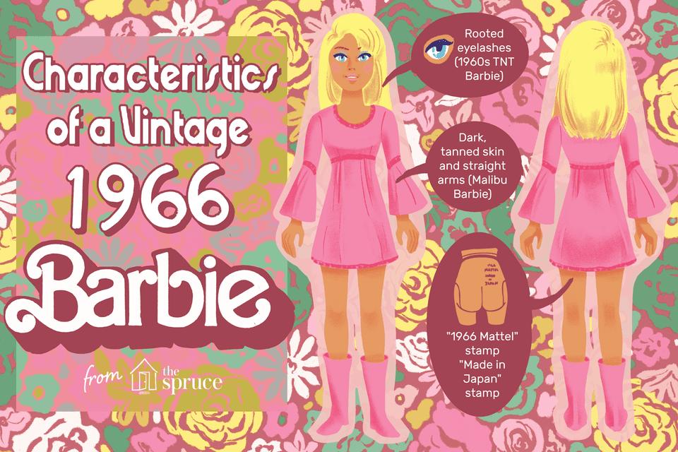 Illustration of '66 vintage barbie