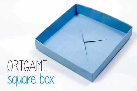 Origami Square Box Instructions