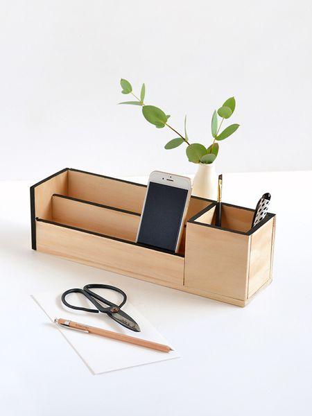 42 diys for a beautiful organized office diy wood desk organizer solutioingenieria Choice Image