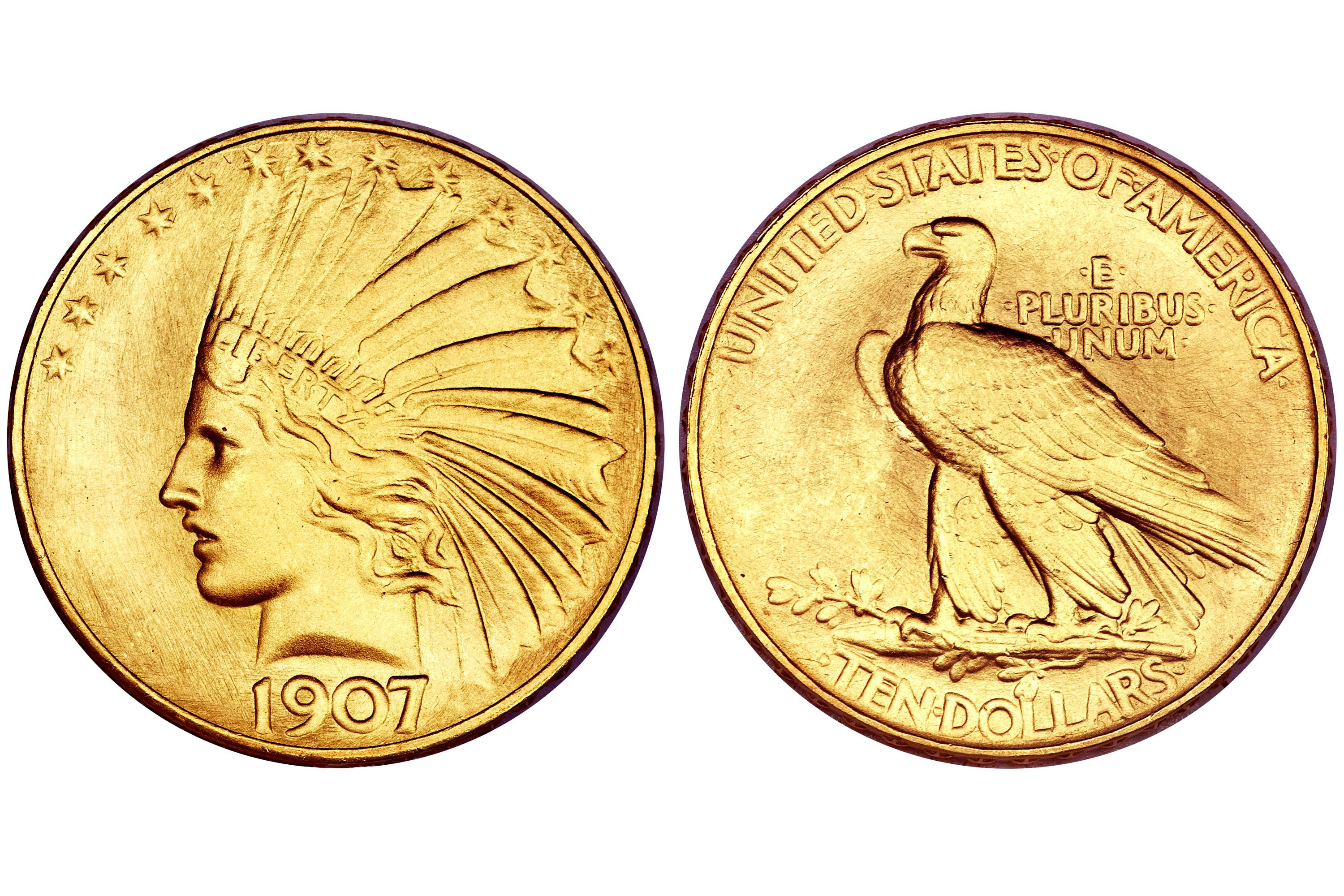1907 Satin Proof Indian $10 Gold Eagle - Rolled Edge