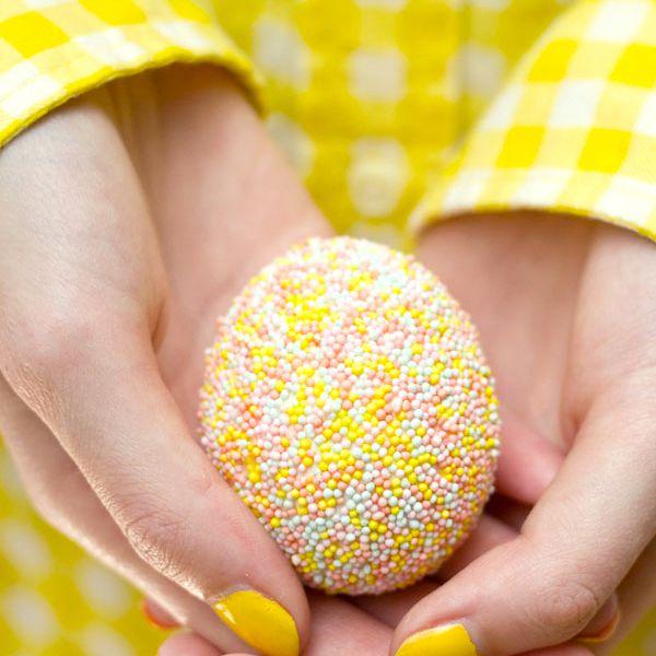 DIY Sprinkle Easter Eggs