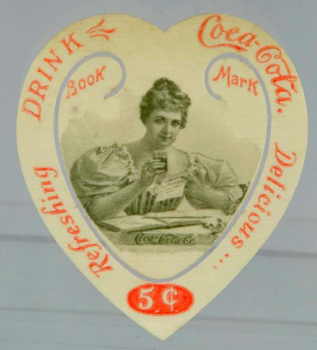 Coca-Cola Bookmark Featuring Hilda Clark