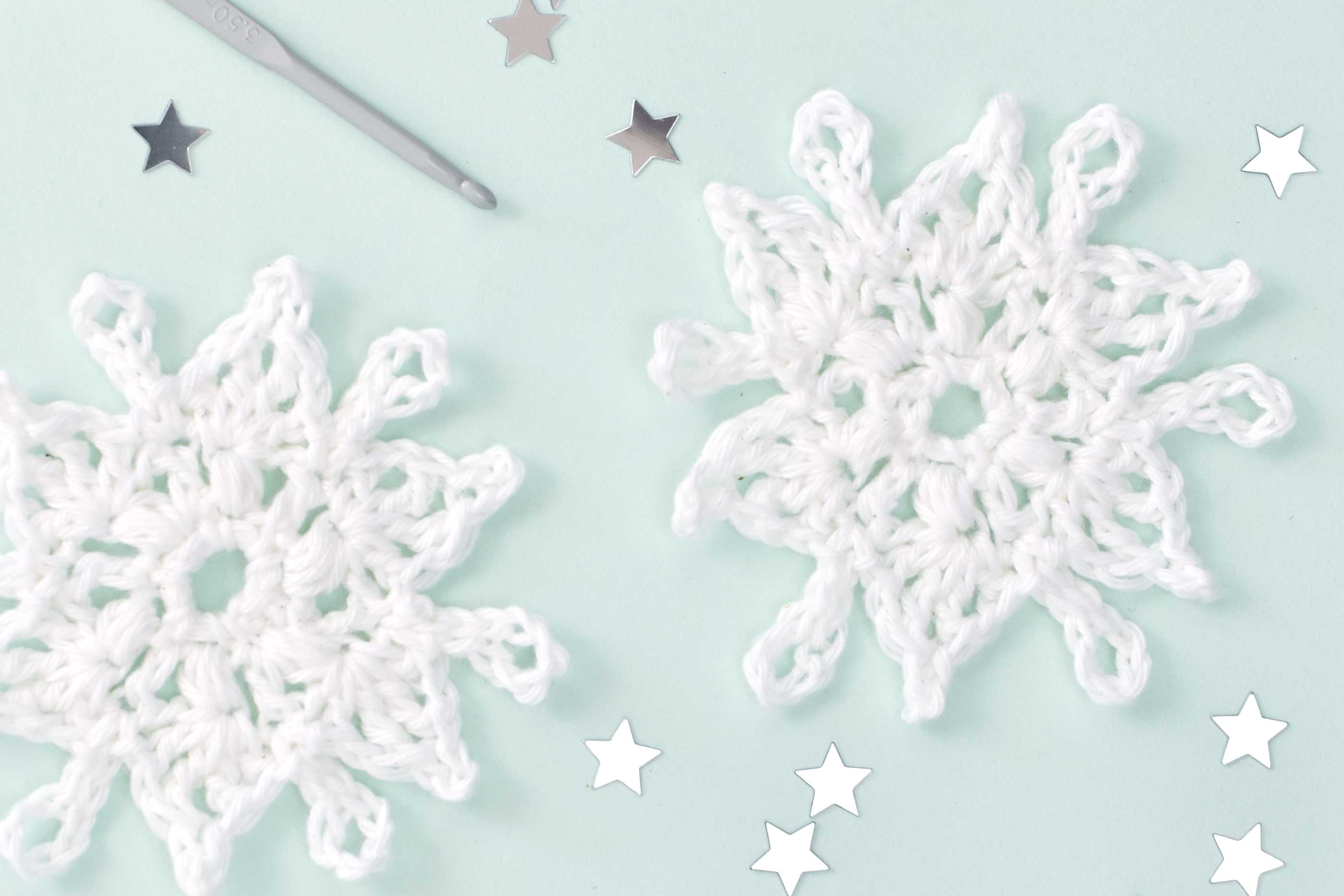 Decorate with Crochet Snowflakes