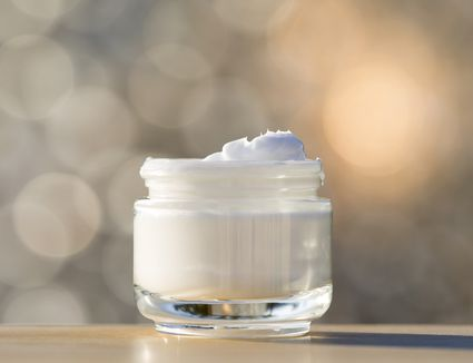 Whipped body lotion in a jar