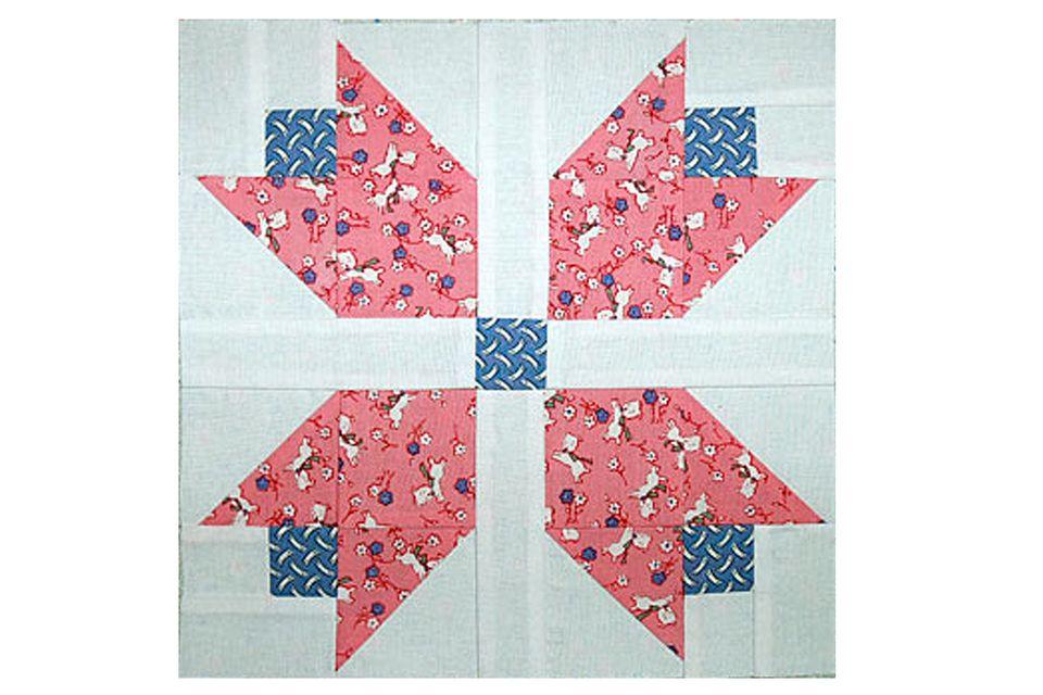Patchwork Tulips Quilt Block Pattern