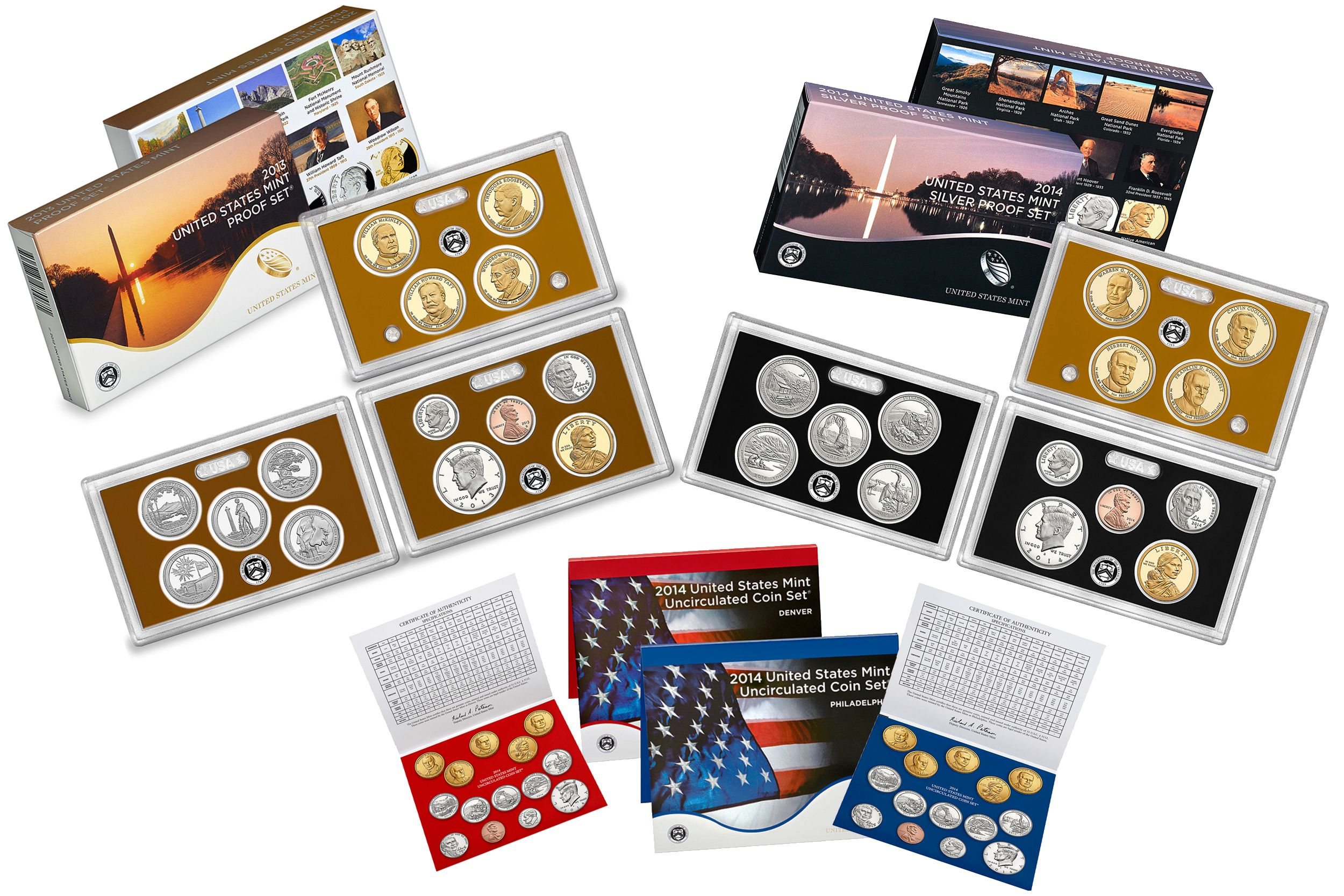 2014 United States Proof and Uncirculated Mint Sets