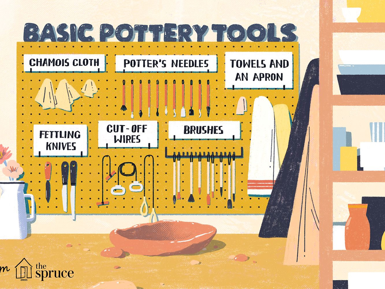 Pottery Clay Sculpture Carving Tools Drawing Cleaning Artists Paint Brushes Big Head Clay Cleaning Bamboo Brushes Shapers