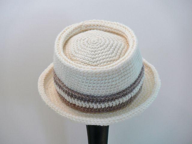 Men's Crochet Pork Pie Hat Pattern
