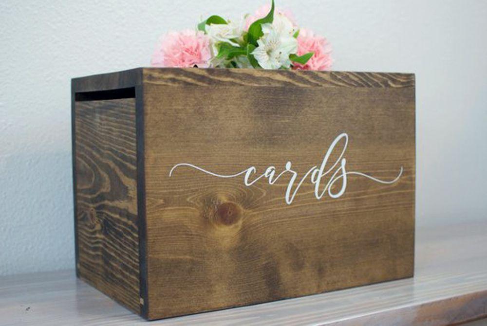 wooden card box