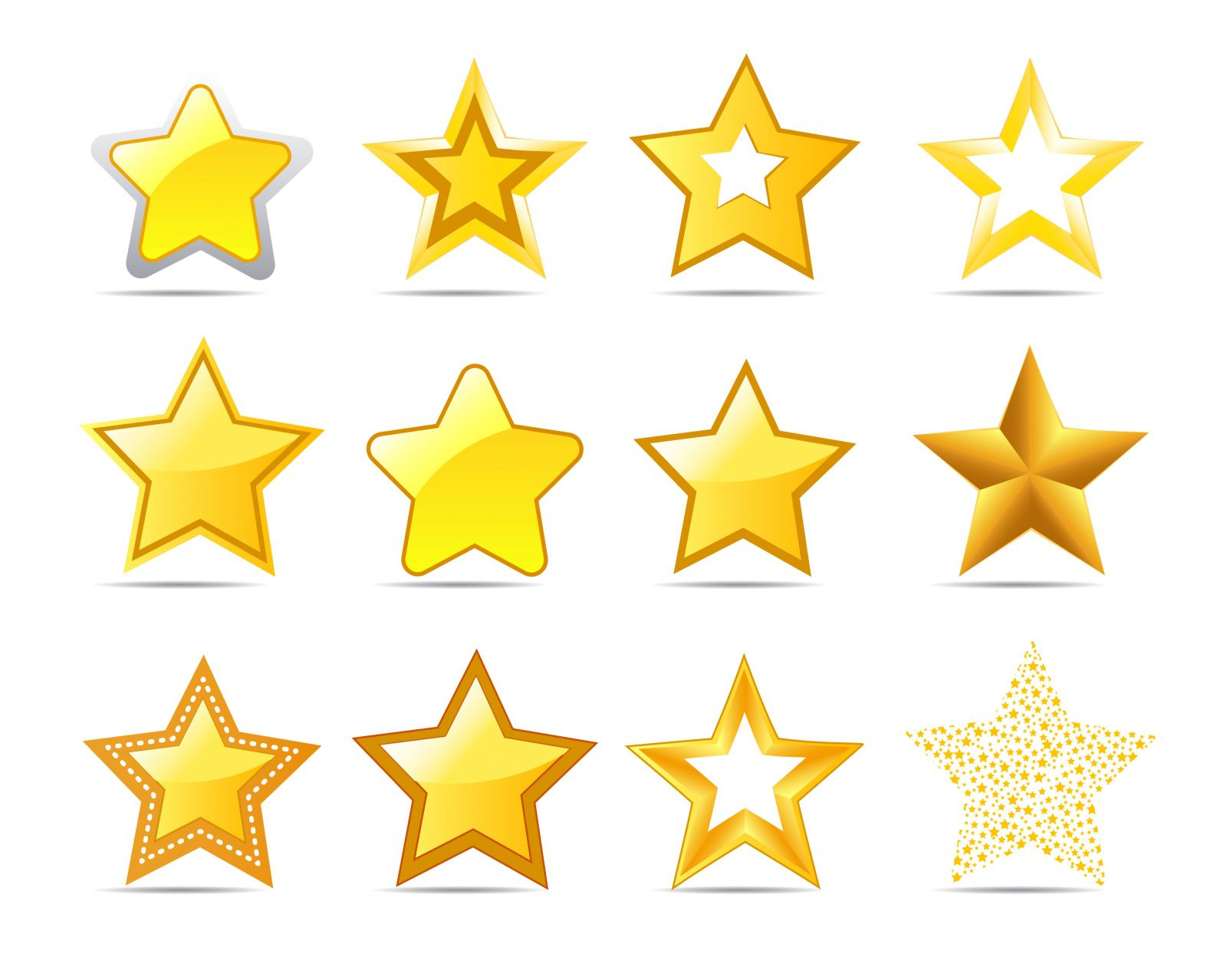 A group of star clip art images