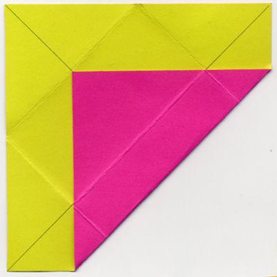 folding corner to first line