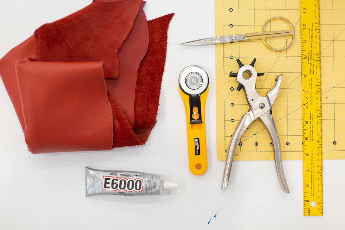 Materials for making DIY leather belt