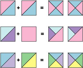 Illustrated design of how to configure triangles.