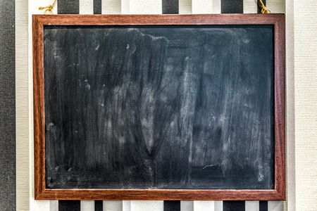 create a chalkboard from an old picture frame