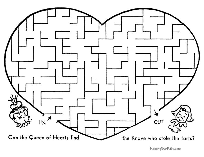 It's just a graphic of Crafty Kids Printable Mazes
