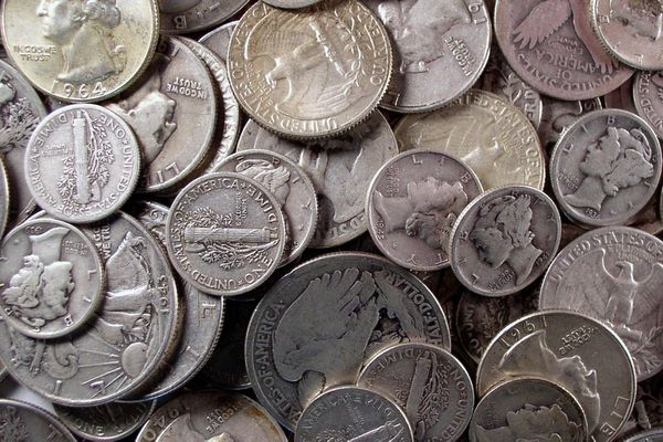 Circulated Silver Coins.