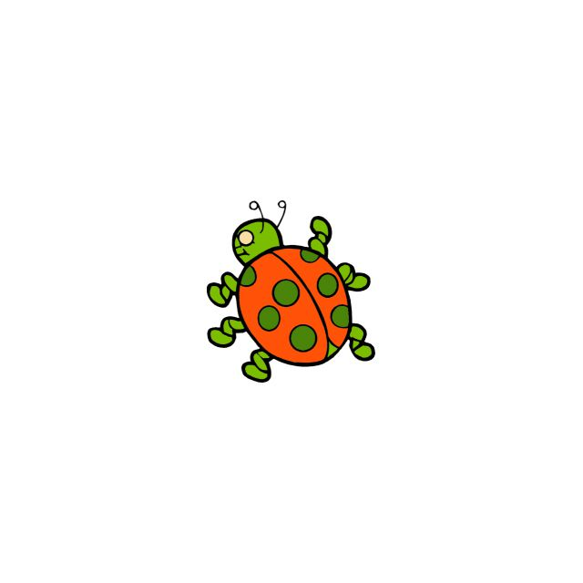 An orange and green turtle