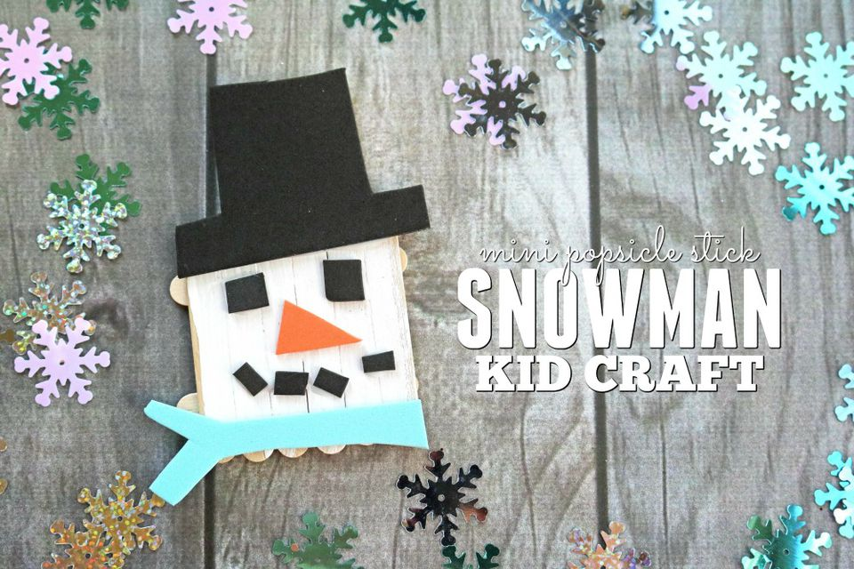 Mini Popsicle Stick Snowmen