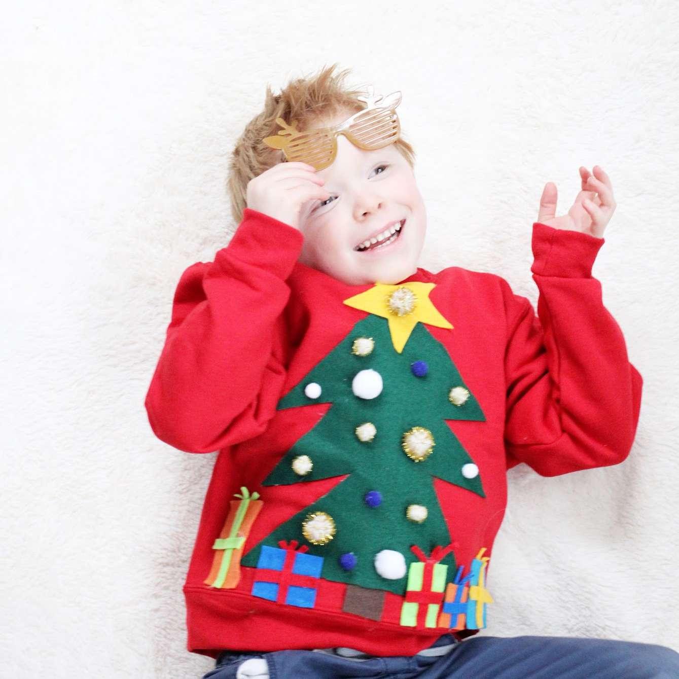 Felt Christmas Tree Sweater