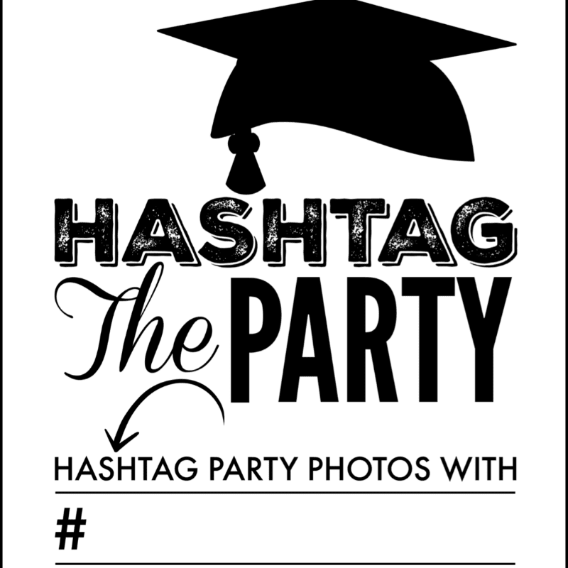 Hashtag Party Sign