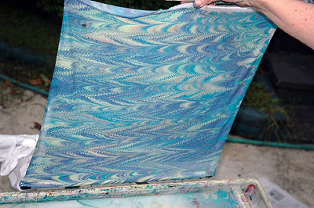 Make Your First Marbled Fabric