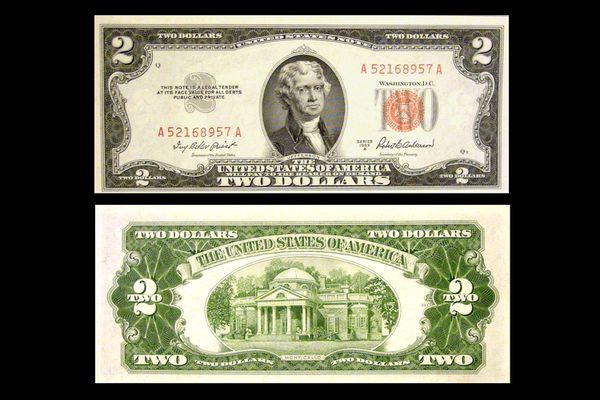 series 1953-a two dollar bill