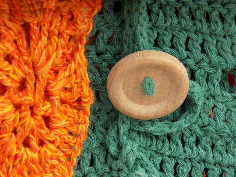 Two Color Crochet Scarf