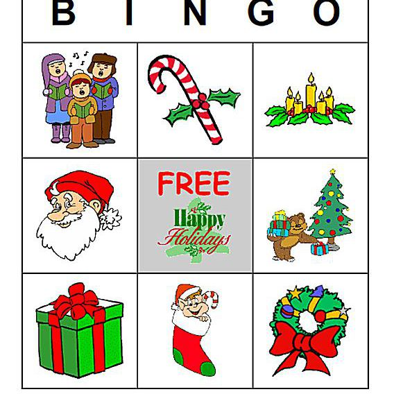 Holiday Family Bingo