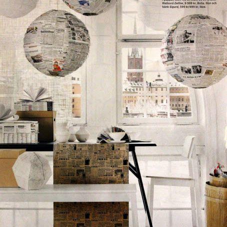 newspaper home decor
