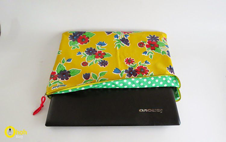 Printed fabric laptop sleeve