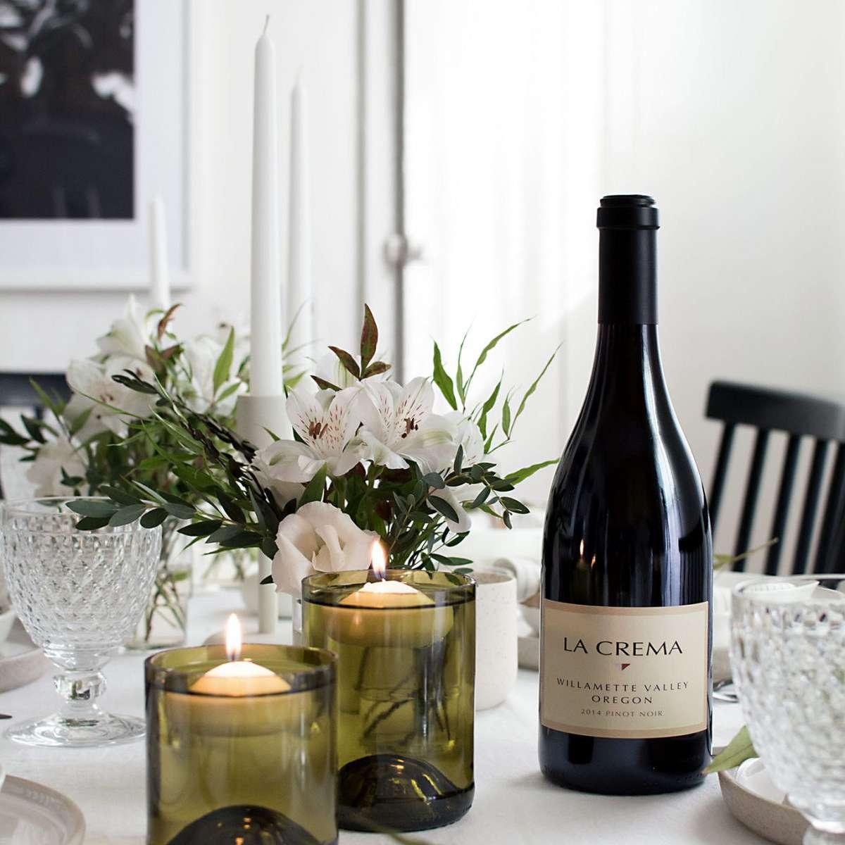 diy wine bottle candle holders