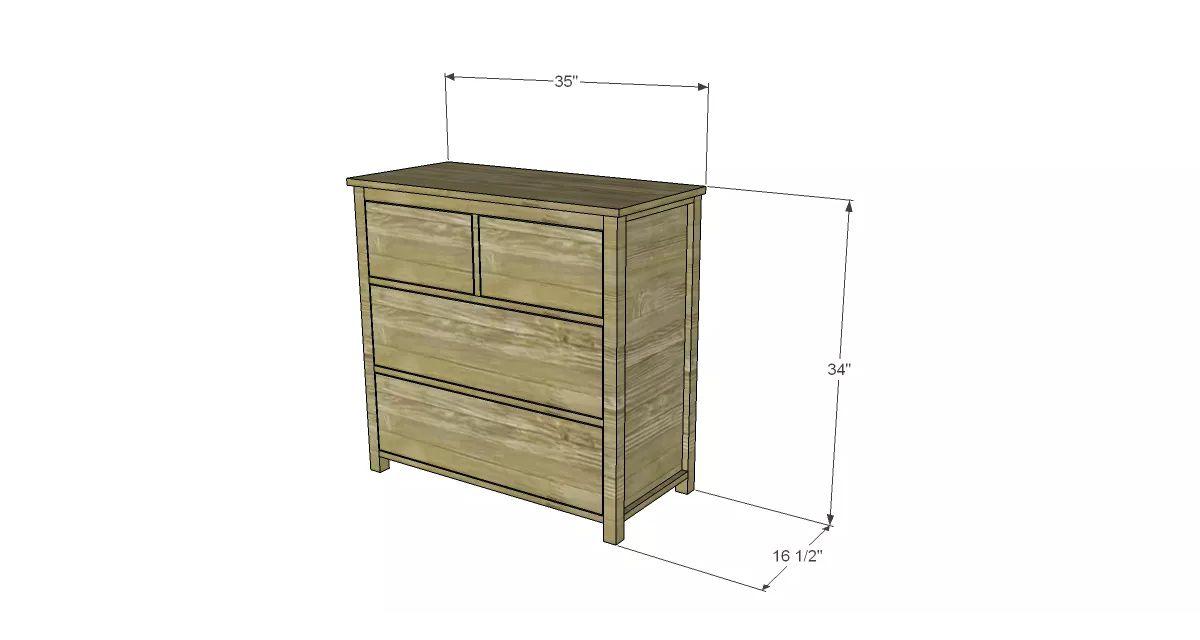 An illustration of a simple dresser
