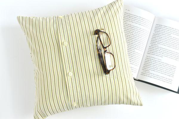 Make a Pillow With a Men's Shirt