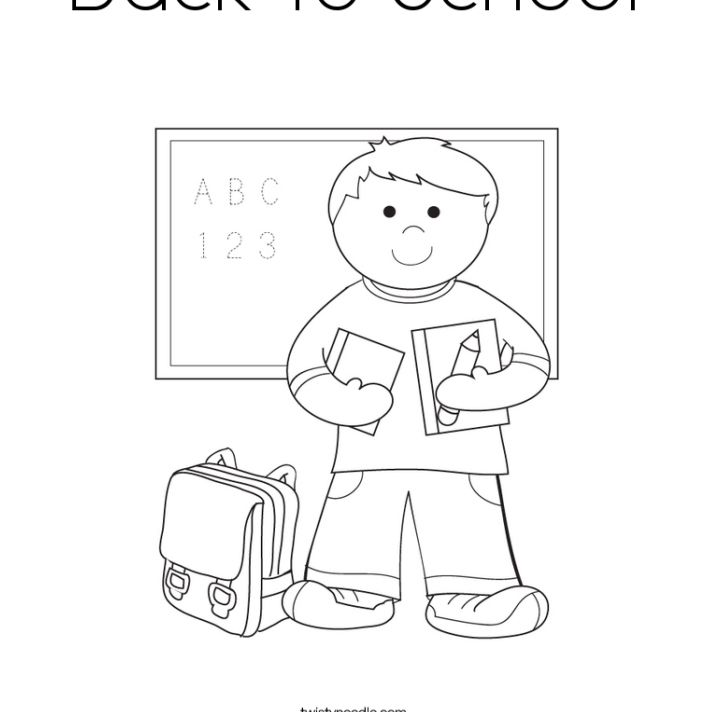 12 Sources For Free Back To School Coloring Pages