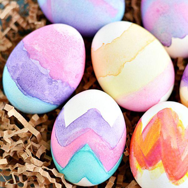 DIY Watercolor Eggs