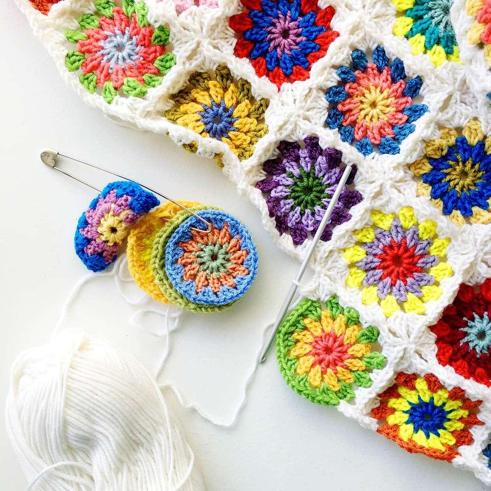 Crochet afghan square blanket