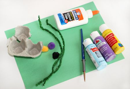 Egg Carton Flower Craft For Kids