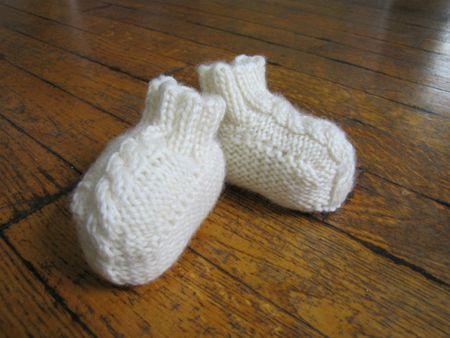 Baby Aran Booties Free Knitting Pattern