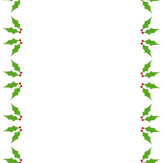 a holly and berry christmas border - Christmas Borders Free
