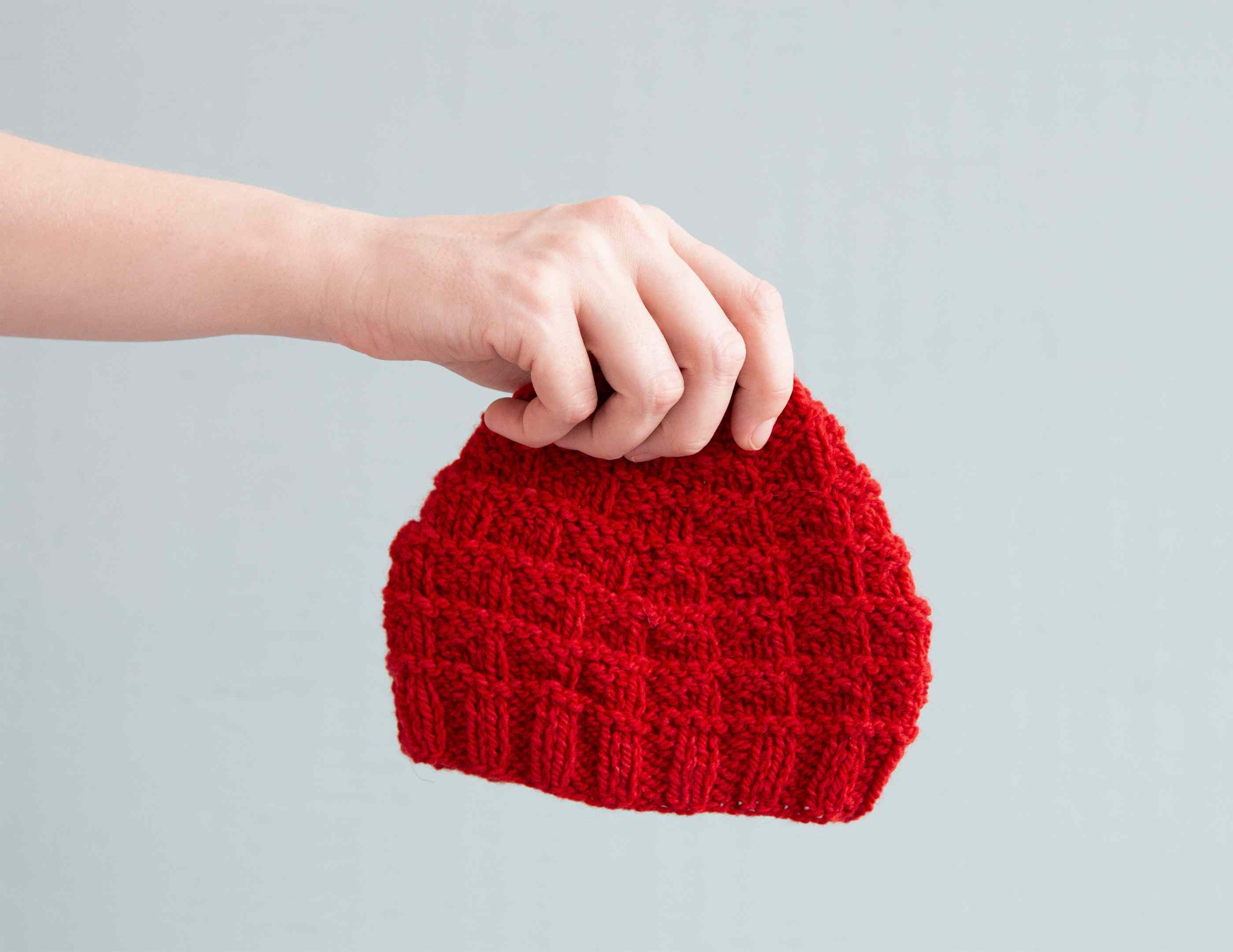 Triangle Rib Baby Hat Knitting Pattern