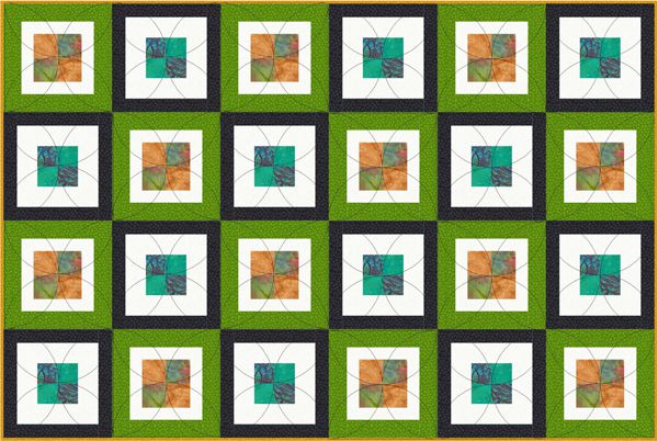 Here S An Easy Pattern For A Contemporary Baby Quilt